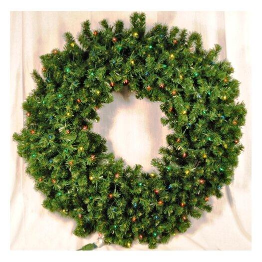 Queens of Christmas Pre-Lit Incandescent Sequoia Wreath