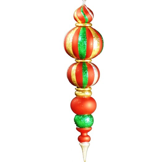 Queens of Christmas Oversized Shatterproof Finial
