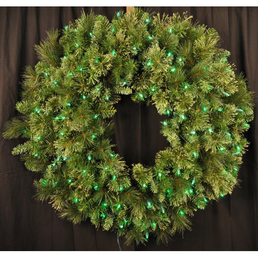 Queens of Christmas Pre-Lit LED Blended Pine Wreath