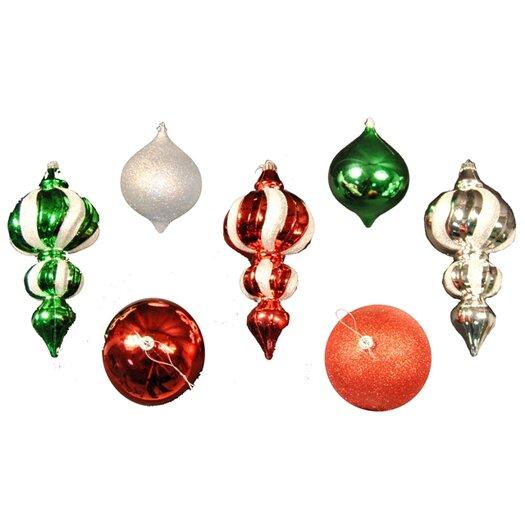Queens of Christmas 7 Piece Ornament Set