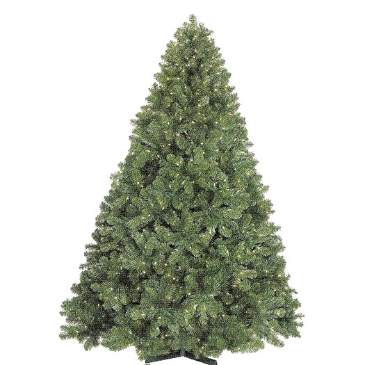 Queens of Christmas 12' Classic Slender Tree with Metal Stand