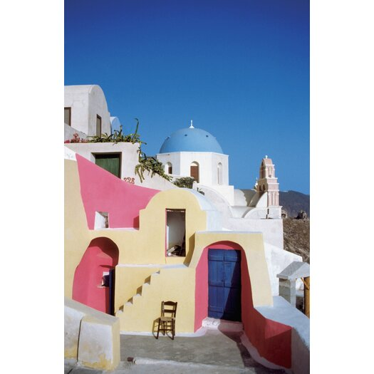 Maxwell Dickson Santorini Greece Photographic Print on Canvas