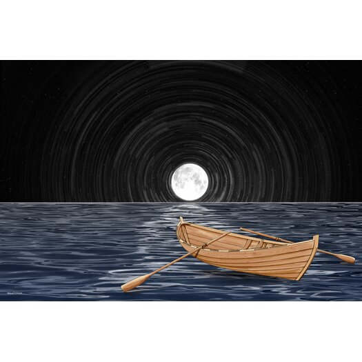 "Maxwell Dickson ""Full Moon"" Graphic Art on Canvas"