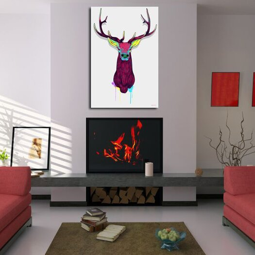 "Maxwell Dickson ""Elk Head"" Graphic Art on Canvas"