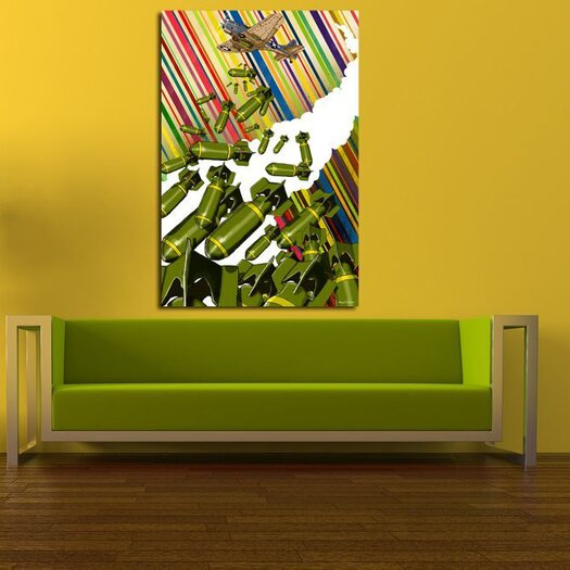 Maxwell Dickson Dropping Bombs Graphic Art on Canvas