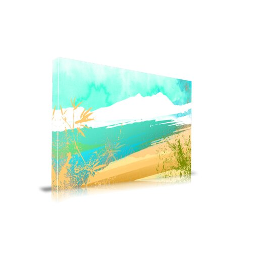 "Maxwell Dickson ""Paradise Sand"" Graphic Art on Canvas"