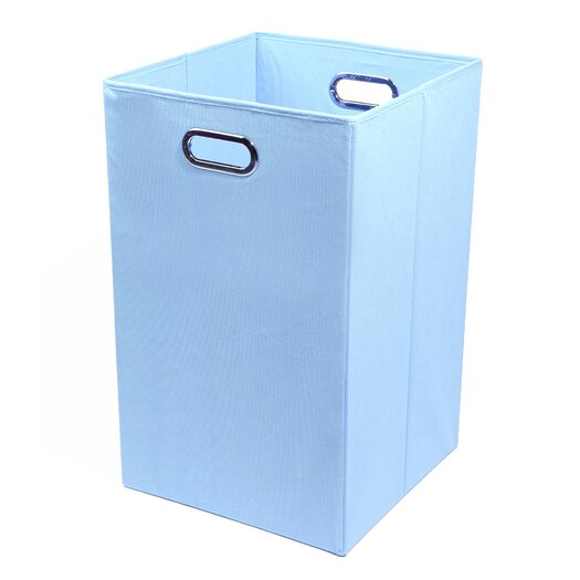 Modern Littles Sky Folding Laundry Basket