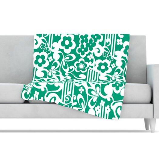 KESS InHouse Esmerald Fleece Throw Blanket