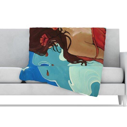 KESS InHouse Sea Swept Fleece Throw Blanket
