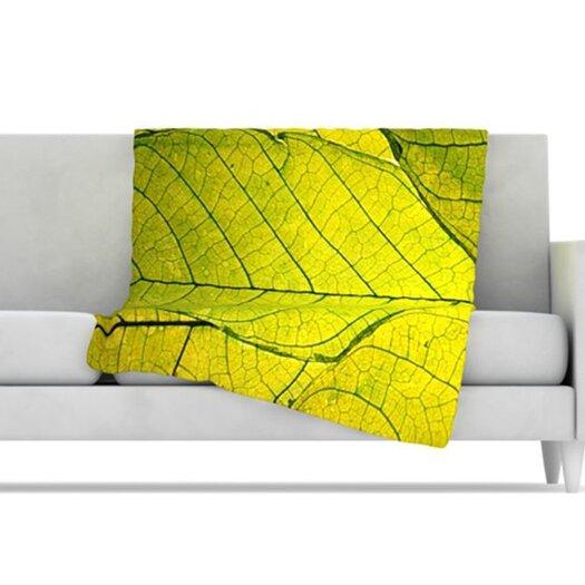 KESS InHouse Every Leaf a Flower Fleece Throw Blanket