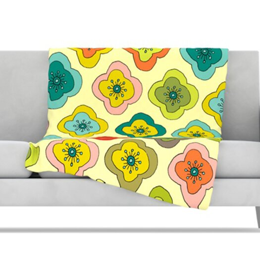 KESS InHouse Forest Bloom Fleece Throw Blanket