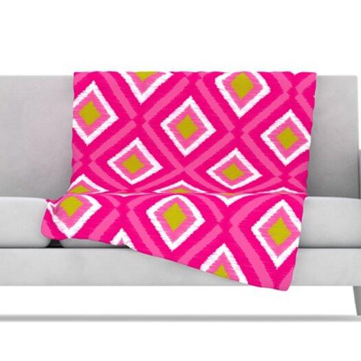 KESS InHouse Moroccan Tile Fleece Throw Blanket