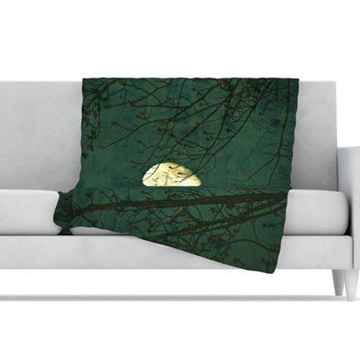KESS InHouse Kiss Me Goodnight Fleece Throw Blanket