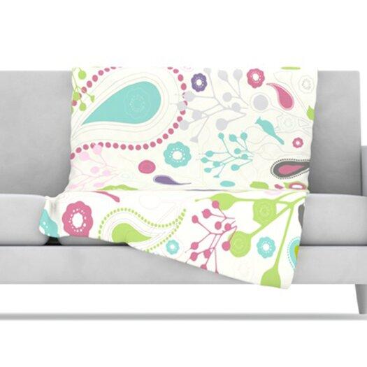 KESS InHouse Bird Song Fleece Throw Blanket