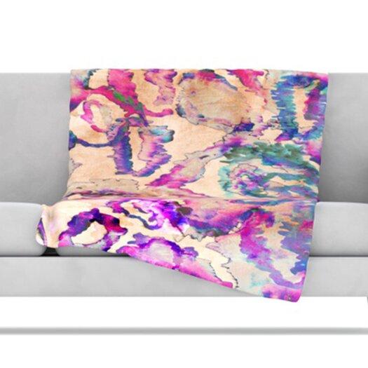 KESS InHouse Weirdi Kat Fleece Throw Blanket