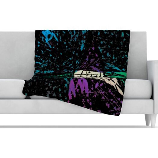 KESS InHouse Family 5 Fleece Throw Blanket