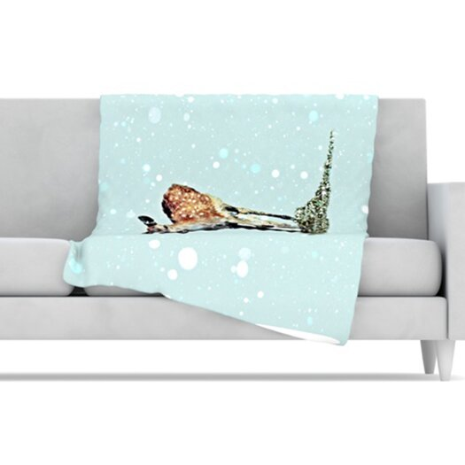 KESS InHouse Fawn Fleece Throw Blanket
