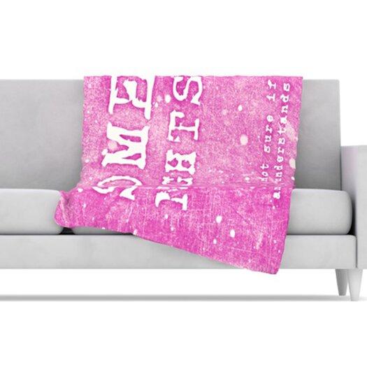 KESS InHouse Some Nights Fleece Throw Blanket