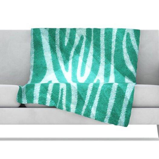 KESS InHouse Zebra Texture Fleece Throw Blanket