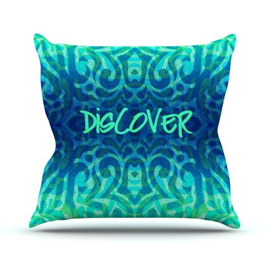 KESS InHouse Tattooed Discovery Throw Pillow