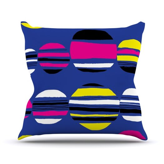 KESS InHouse Retro Circles Throw Pillow