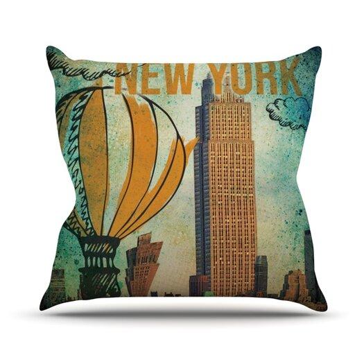 KESS InHouse New York Throw Pillow