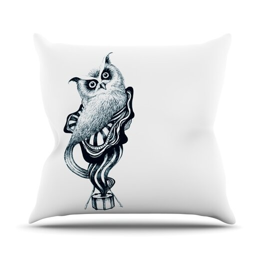 KESS InHouse Owl Throw Pillow