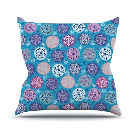 KESS InHouse Floral Winter Throw Pillow