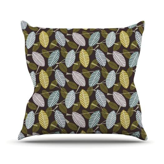 KESS InHouse Moss Canopy Throw Pillow