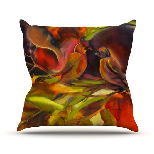 KESS InHouse Mirrored in Nature Throw Pillow