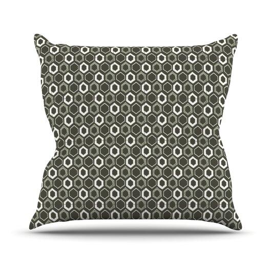 KESS InHouse Hexy Throw Pillow