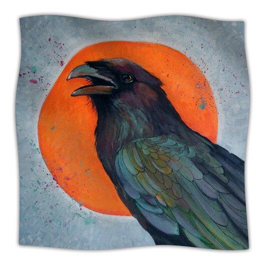 KESS InHouse Raven Sun Microfiber Fleece Throw Blanket