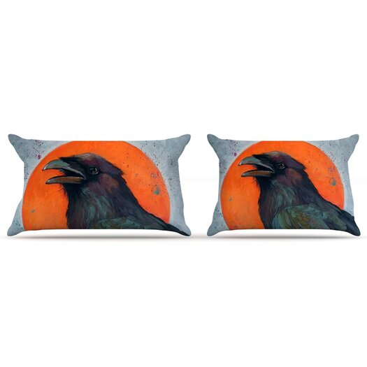KESS InHouse Raven Sun Pillow Case