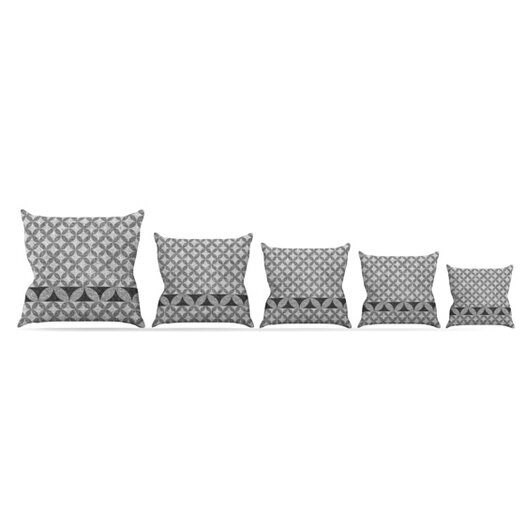 KESS InHouse Diamond Black Throw Pillow