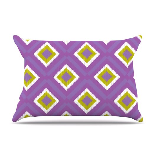 KESS InHouse Purple Splash Tile Pillow Case