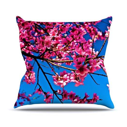 KESS InHouse Flowers Throw Pillow