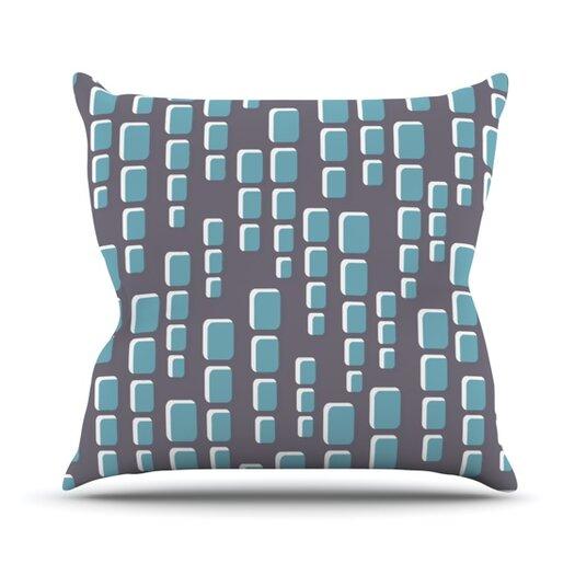 KESS InHouse Cubic Geek Chic Throw Pillow