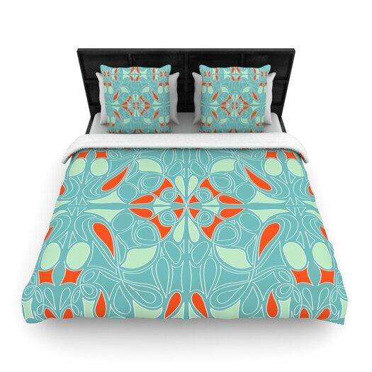 KESS InHouse Seafoam and Orange Throw Pillow