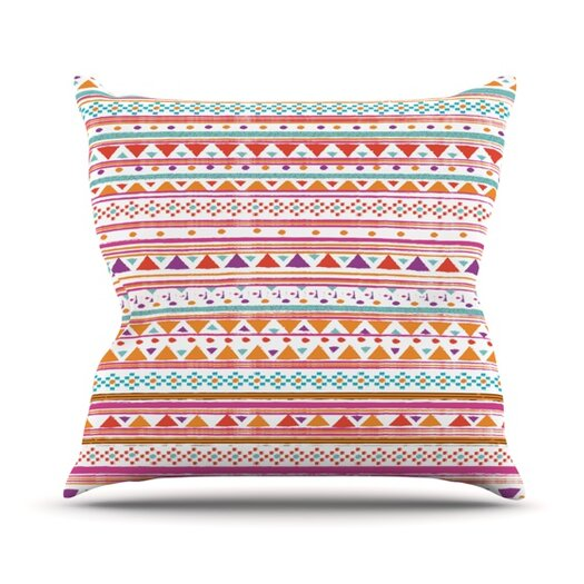 KESS InHouse Native Bandana Throw Pillow