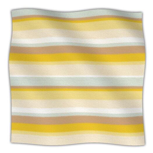 KESS InHouse Desert Stripes Fleece Throw Blanket