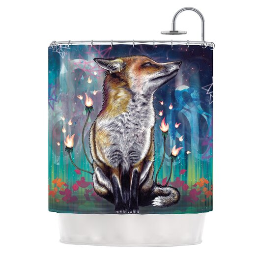 KESS InHouse There is a Light Polyester Shower Curtain