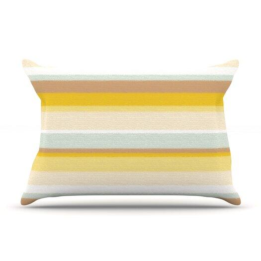 KESS InHouse Desert Stripes Pillow Case