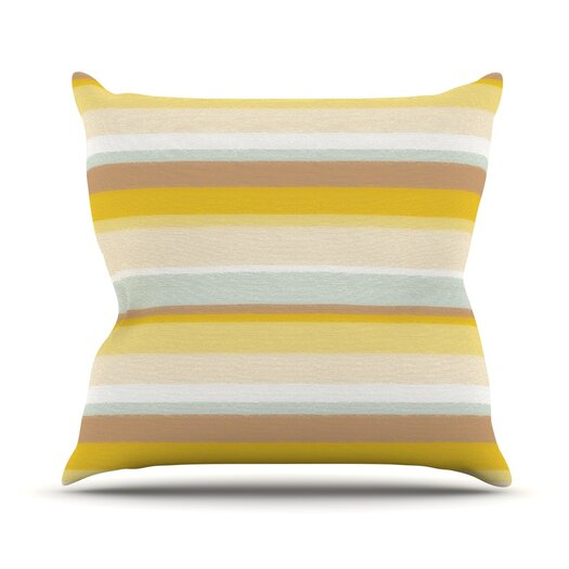 KESS InHouse Desert Stripes Throw Pillow