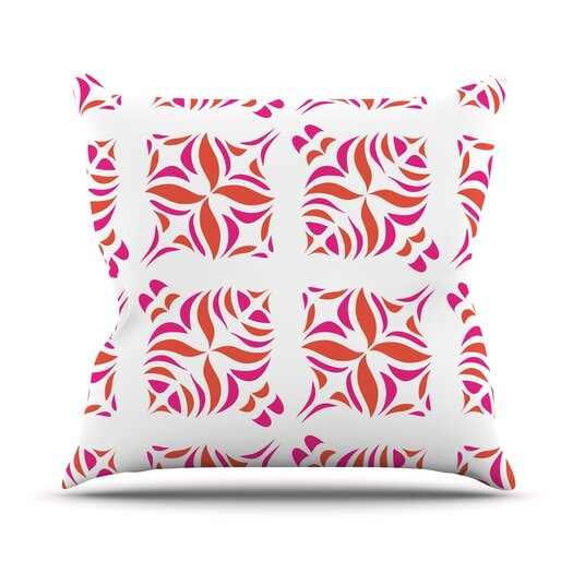 KESS InHouse Orange Oasis Throw Pillow