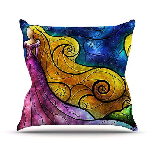 KESS InHouse Starry Lights Throw Pillow