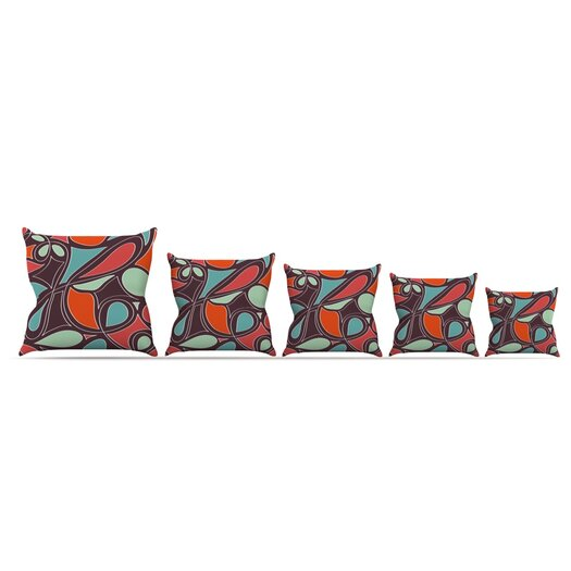 KESS InHouse Retro Swirl Throw Pillow