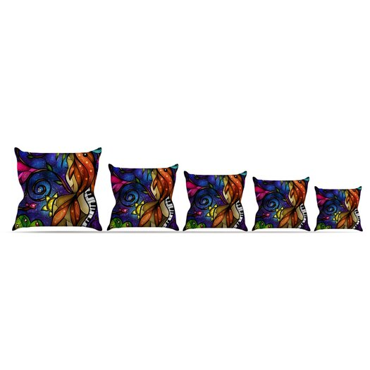 KESS InHouse Tell Me Stories Throw Pillow