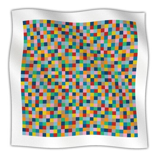 KESS InHouse Colour Blocks Microfiber Fleece Throw Blanket