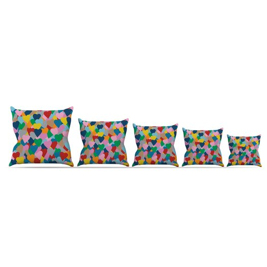 KESS InHouse More Hearts Throw Pillow
