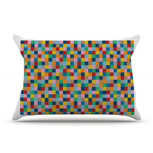 KESS InHouse Colour Blocks Pillow Case